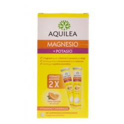 AQUILEA  Magnesio + Potasio 28 Comprimidos Efervescentes Farmacias Buzo