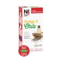 Ns omega 3 chía 60 capsulas