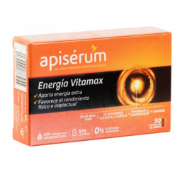 Apiserum Energía Vitamax 30 Cápsulas Blandas