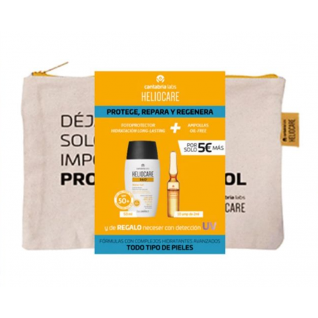 Heliocare Water Gel + 10 Ampollas Endocare Radiance pack