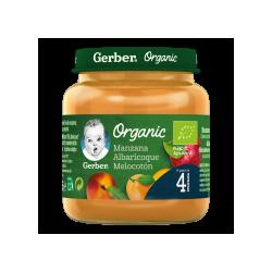 Gerber Organic Manzana Melocotón Albaricoque 125gITO 125