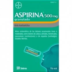 ASPIRINA 500 MG 10 SOBRES GRANULADOS