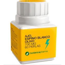 BOTANICAPHARMA  AJO ESPINO BLANCO OLIVO 60 PERLAS