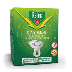 Relec Enchufe Antimosquitos Eléctrico Día y Noche BUZO FARMACIAS