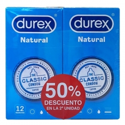 Durex natural plus preservativos 2 cajas