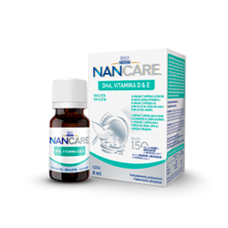 Nestlé NanCare DHA, vitamina D&E, gotas 8ml buzo farmacia