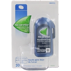 Nicorette SuperMint 2 mg 20 comprimidos para chupar