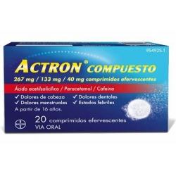 Actron compuesto 20 comprimidos eferve