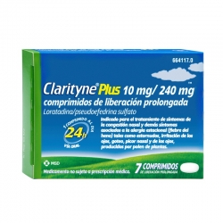 Clarytine Plus 10 mg/240 mg 7 comprimidos