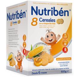 Nutribén 8 Cereales con un toque de Miel Galletas María 600 g buzo farmacia