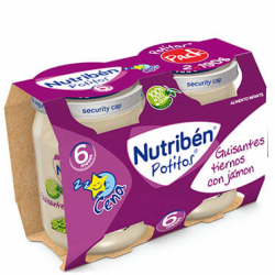 Nutribén Potitos Guisantes tiernos con Jamón (Bipack) 2 x 190 g buzo farmacia