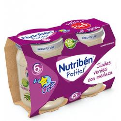 Nutribén Potitos Judías Verdes con Merluza (Bipack) 2 x 190 g buzo farmacia