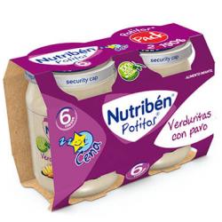 Nutribén Potitos Verduritas con Pavo (Bipack) 2 x 190 g buzo farmacia