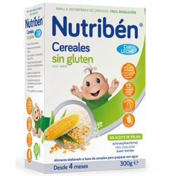 Nutribén Cereales sin Gluten con  Leche adaptada 300 g buzo farmacia