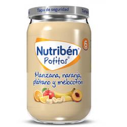 Nutribén Potitos Manzana, Naranja, Plátano y Melocotón  230 g