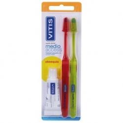 Vitis Cepillo Dental Adultos Access medio 2 U