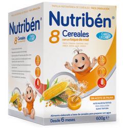 Nutribén 8 Cereales con un toque de Miel Leche adaptada 600 g buzo farmacia