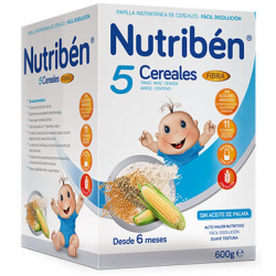 Nutribén 5 cereales fibra 600 g buzo farmacia