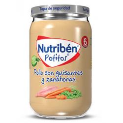 Nutribén Potitos Pollo con Guisantes y Zanahoria 235 g buzo farmacia