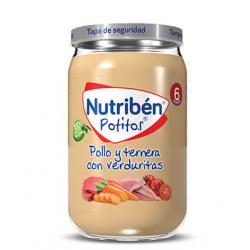 Nutribén Potitos Pollo y Ternera con Verduritas 235 g buzo frmacia