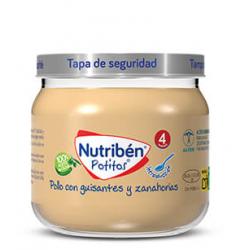 Nutribén Potitos Introducción al Pollo con Guisantes y Zanahorias 120 g buzo farmacia