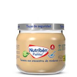 Nutribén Potitos Introducción a la Ternera con Menestra de Verduras 120 g
