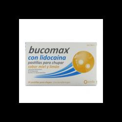 Bucomax - Lidocaína 24 pastillas para chupar miel y limón