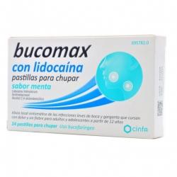 Bucomax - Lidocaina 24 pastillas para chupar menta