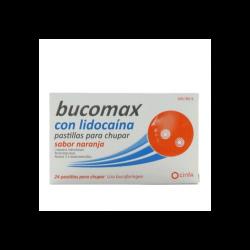 Bucomax - Lidocaína 24 pastillas para chupar naranja