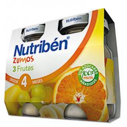 Nutribén Zumos 3 Frutas 2 x 130 g buzo farmacia