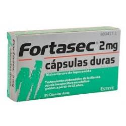 FORTASEC - 2 MG 20 CAPSULAS