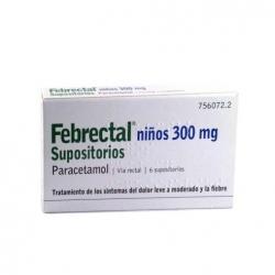 Febrectal niños 300mg 6 supositorios