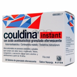 Couldina Instant con Ácido Acetilsalicílico 20 sobres de granulado efervescente