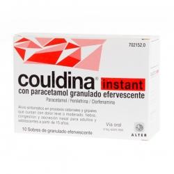 Couldina instant con paracetamol 10 sobres de granulado efervescente