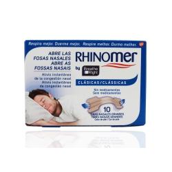 Rhinomer tiras nasales med/gdl 10 u