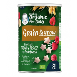 Gerber Organic Snack Trigo ,Arroz con Fambruesa 1 Bolsita 35g buzo farmacia