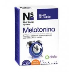 Ns melatonina 1.95mg 30 comprimidos masticables buzo farmacias